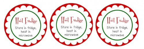 Printable Hot Fudge Labels