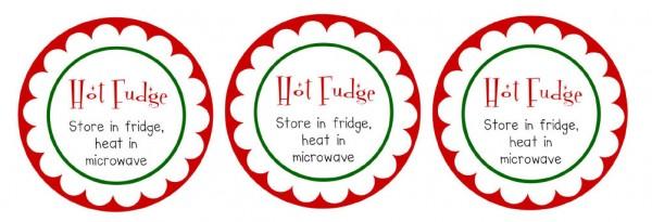 Hot fudge sauce neighbor gift