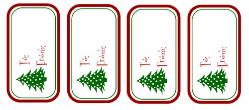 Printable To-From Christmas Tags