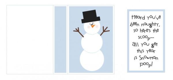 snowman kisses printable