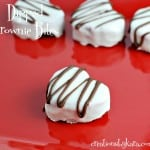 Heart Shaped Brownie Bites for Valentine's Day