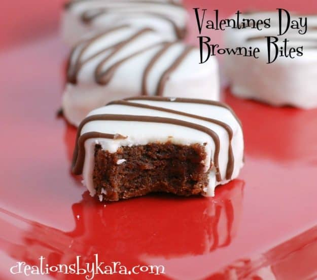 Heart shaped brownie bites for your valentine