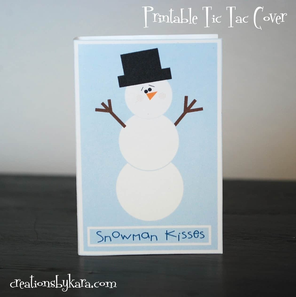 free-printable, tic-tac-cover, snowman-kisses