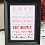 Free Printable– Valentine's Day Ombre Art