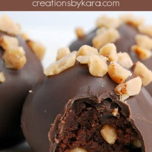 toffee chocolate cake balls pinterest collage