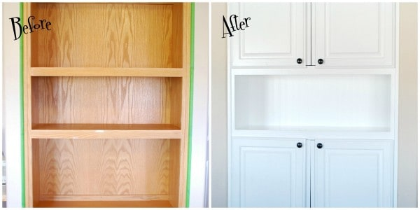 Diy tutorial how to install beadboard wallpaper - Wallpaper on kitchen cabinet doors ...