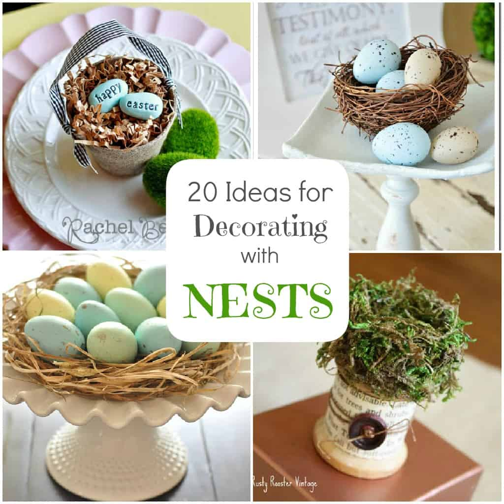 Spring decorating 20 ideas for bird nest decor for Bird home decor