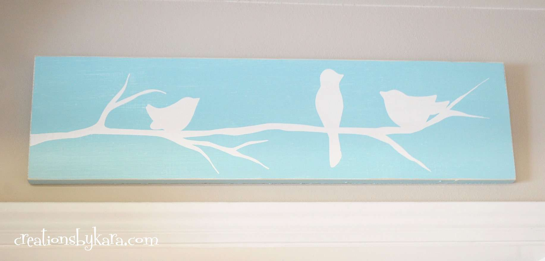 Diy Reverse Stencil Wood Sign