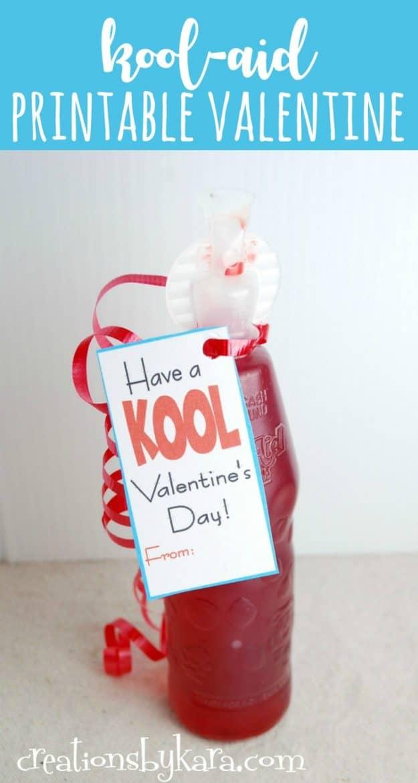 Kool Aid printable valentine card