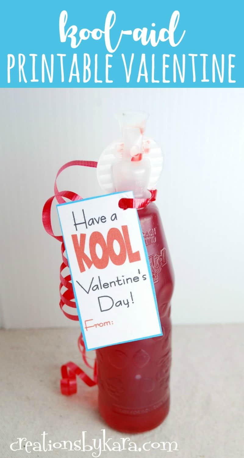 Printable Valentine Card With Kool Aid