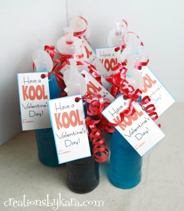Kool-aid valentine classroom card printable