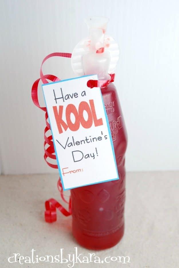 valentine printable - Kool Aid classroom valentine