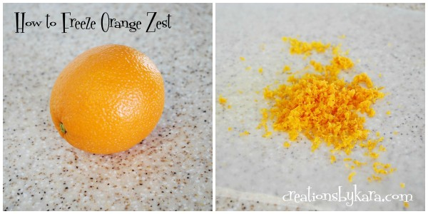Cooking Tip How To Freeze Orange Zest