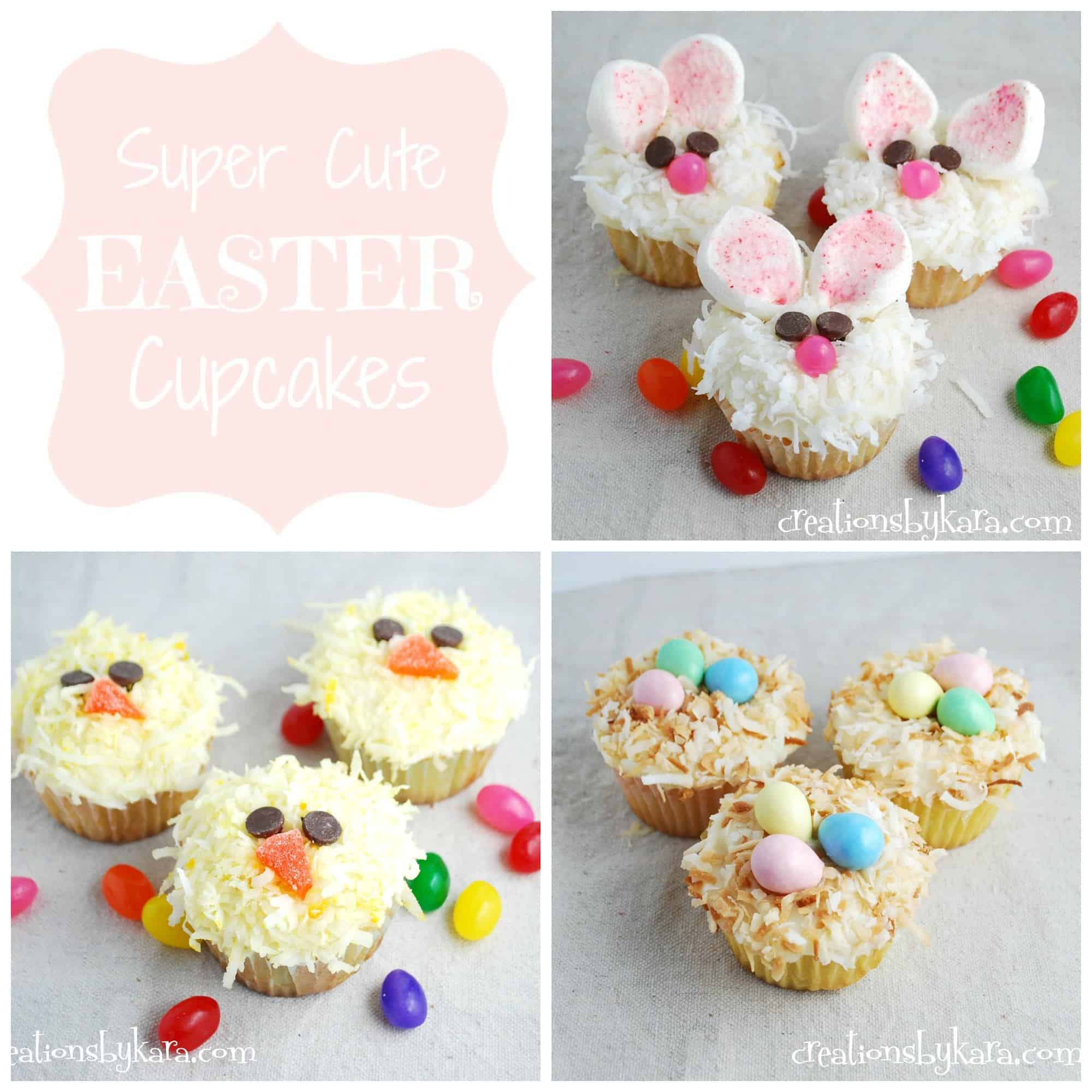 Cute easter cupcakes for Cute cupcake decorating ideas for easter