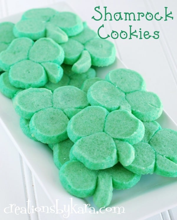 clover-cookies, green-recipe