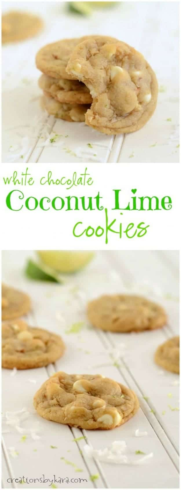 lime coconut cookies long collage