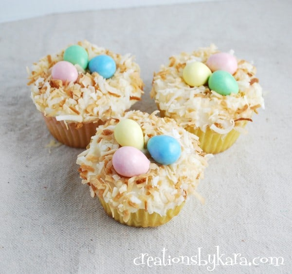 nest-cupcake, easter-food