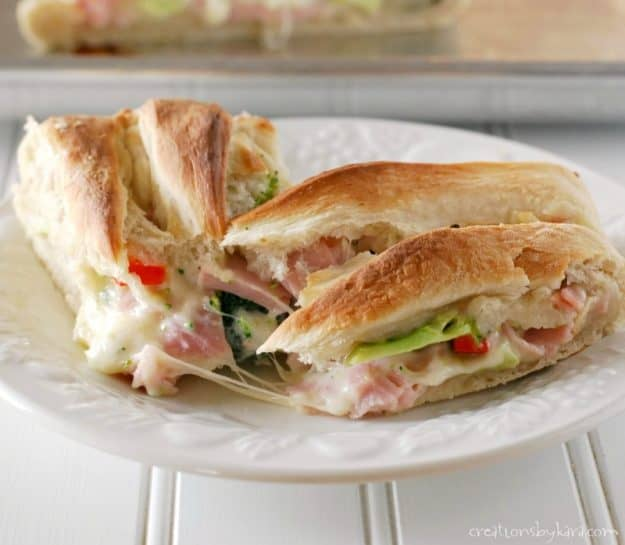 Recipe for cheesy broccoli ham braid. #ham #dinner