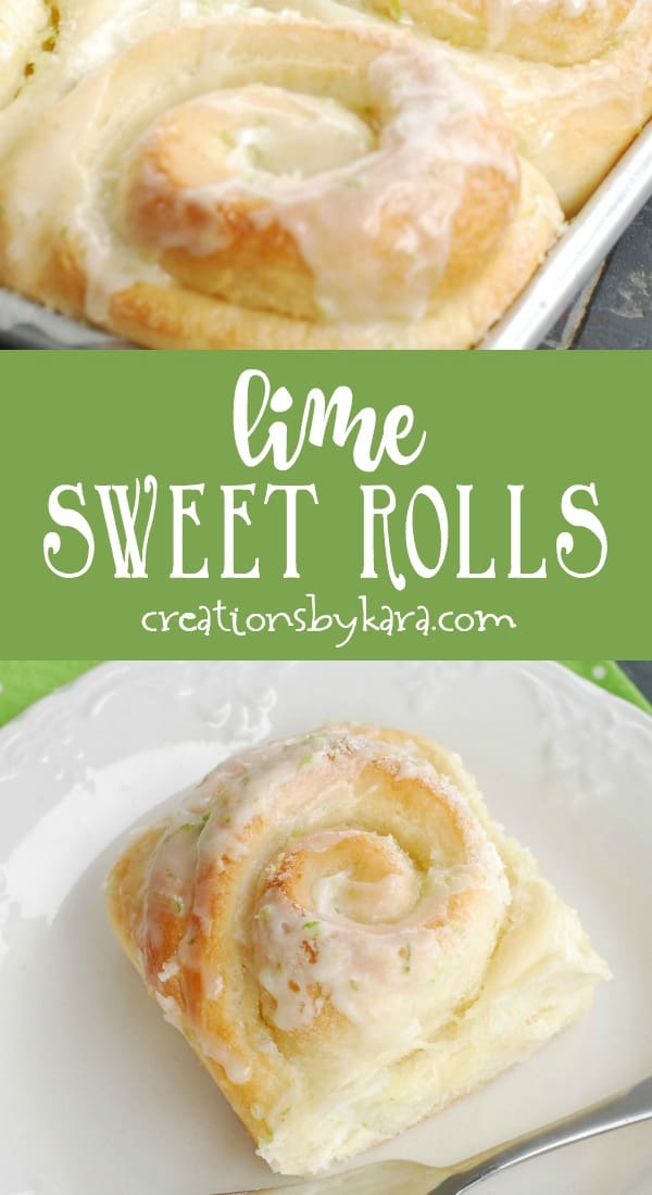 lime sweet rolls recipe collage