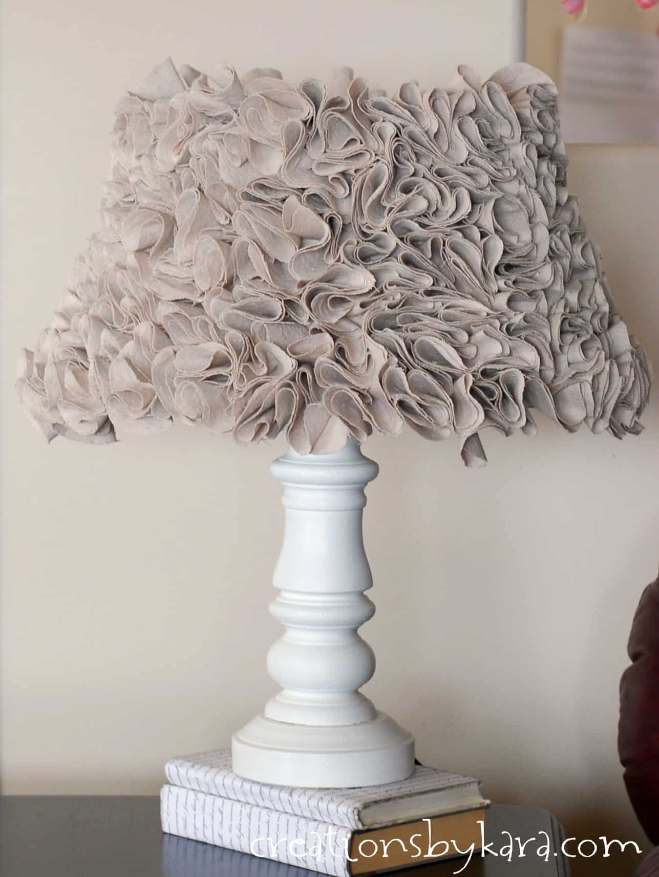 My New Ruffled Lamp with Annie Sloan Chalk Paint