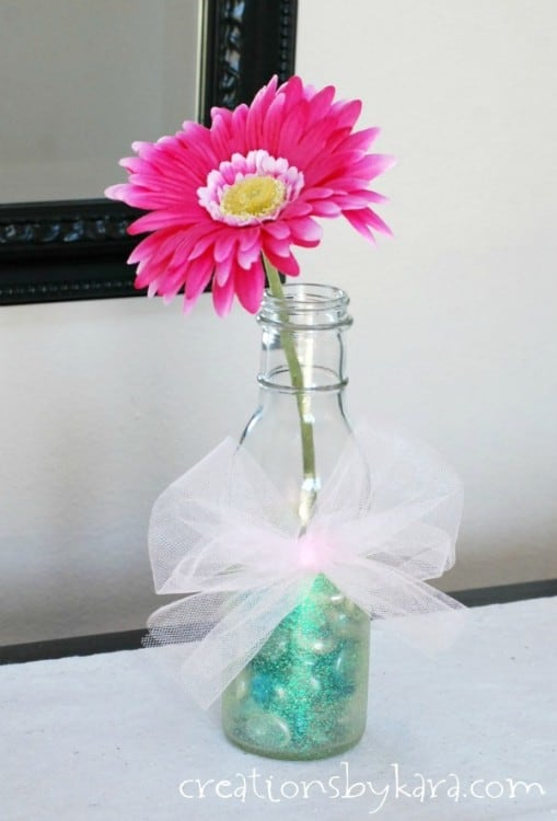 Mother S Day Bottle Vases With Martha Stewart Glitter Paint