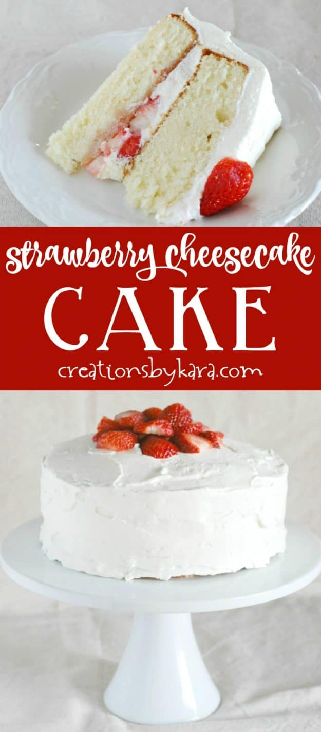 strawberry cheesecake cake collage