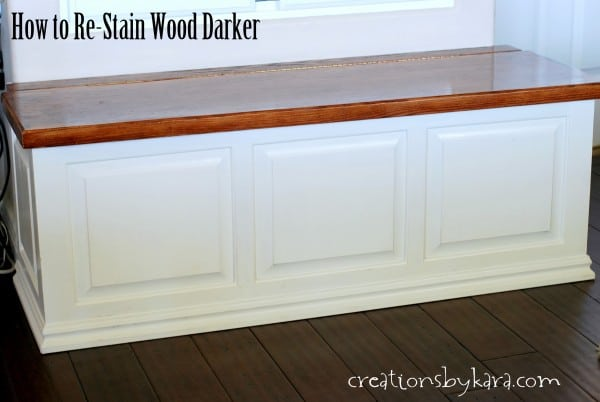 Staining Wood Darker
