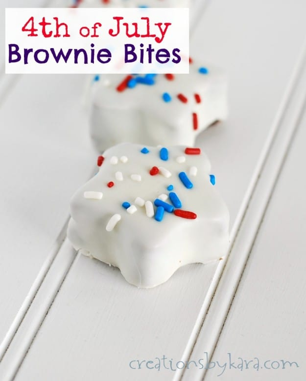Star shaped Brownie Bites for the Fourth of July