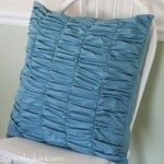 Gathered (or Ruched) Decorative Pillow Tutorial