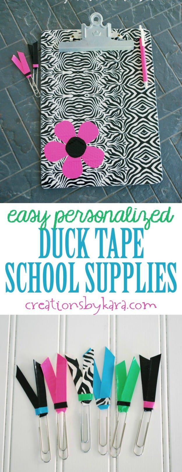 Duck Tape School Supplies - a great way to personalize your supplies for back to school!