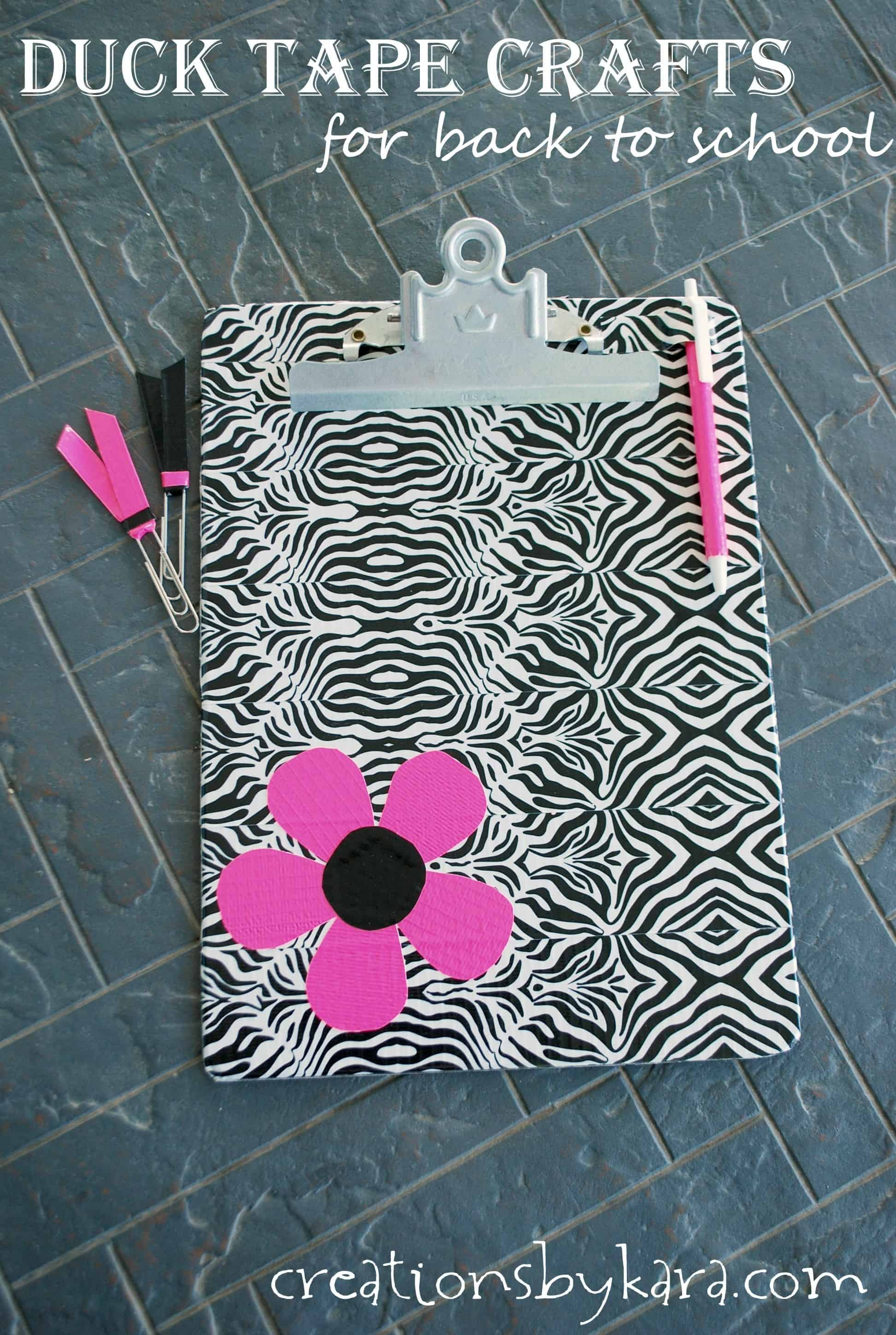 Duck Tape Crafts-- Back to School Accessories