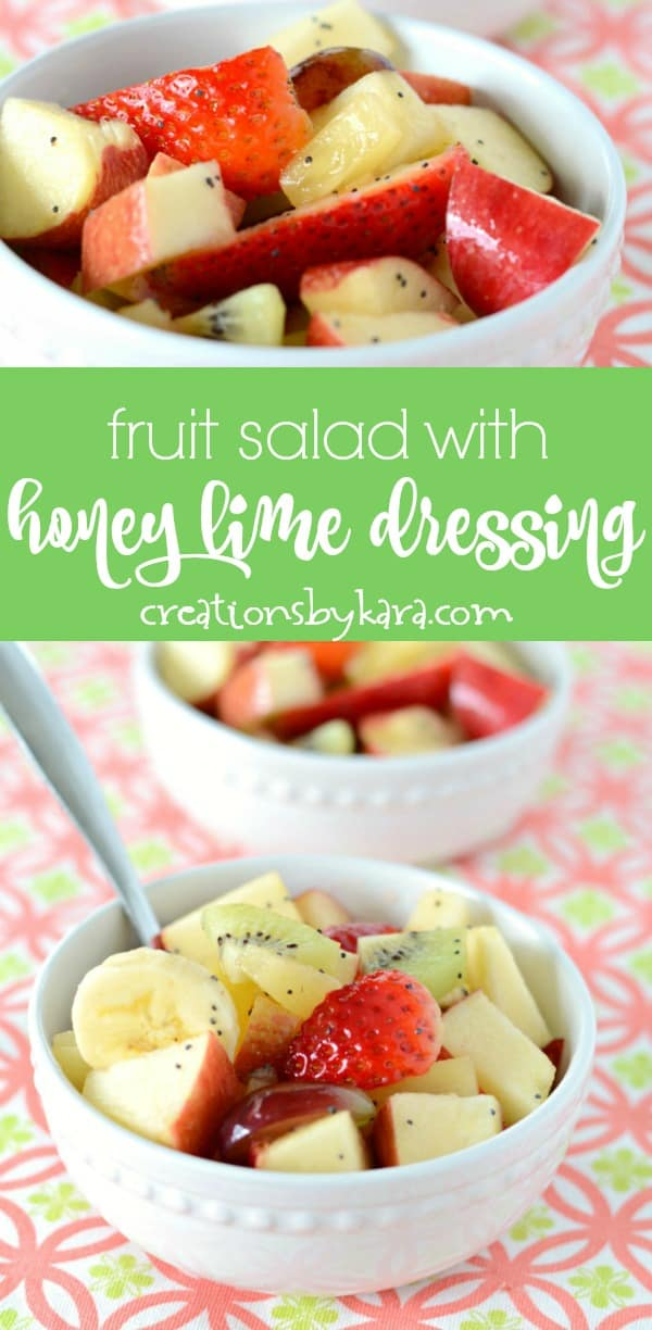 fruit salad with honey lime dressing photo collage