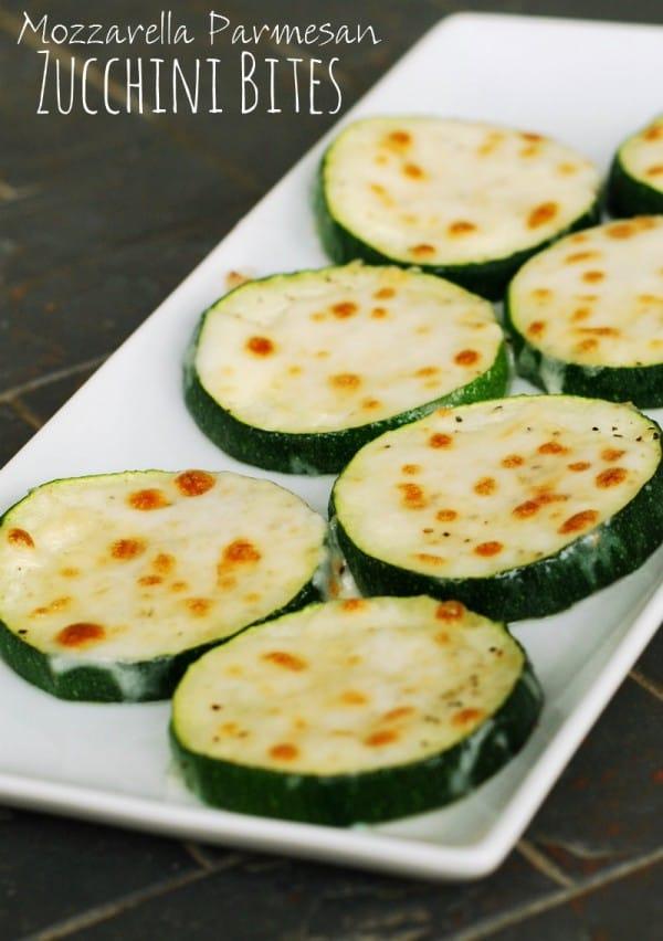 Mozzarella Parmesan Zucchini Bites