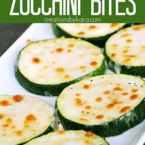 easy parmesan zucchini bites Pinterest Pin
