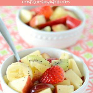 honey lime glazed fruit salad recipe