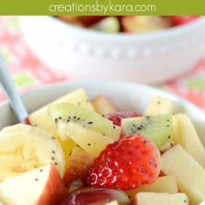 honey lime fruit salad dressing