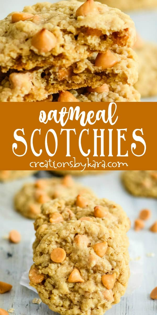oatmeal scotchies recipe collage