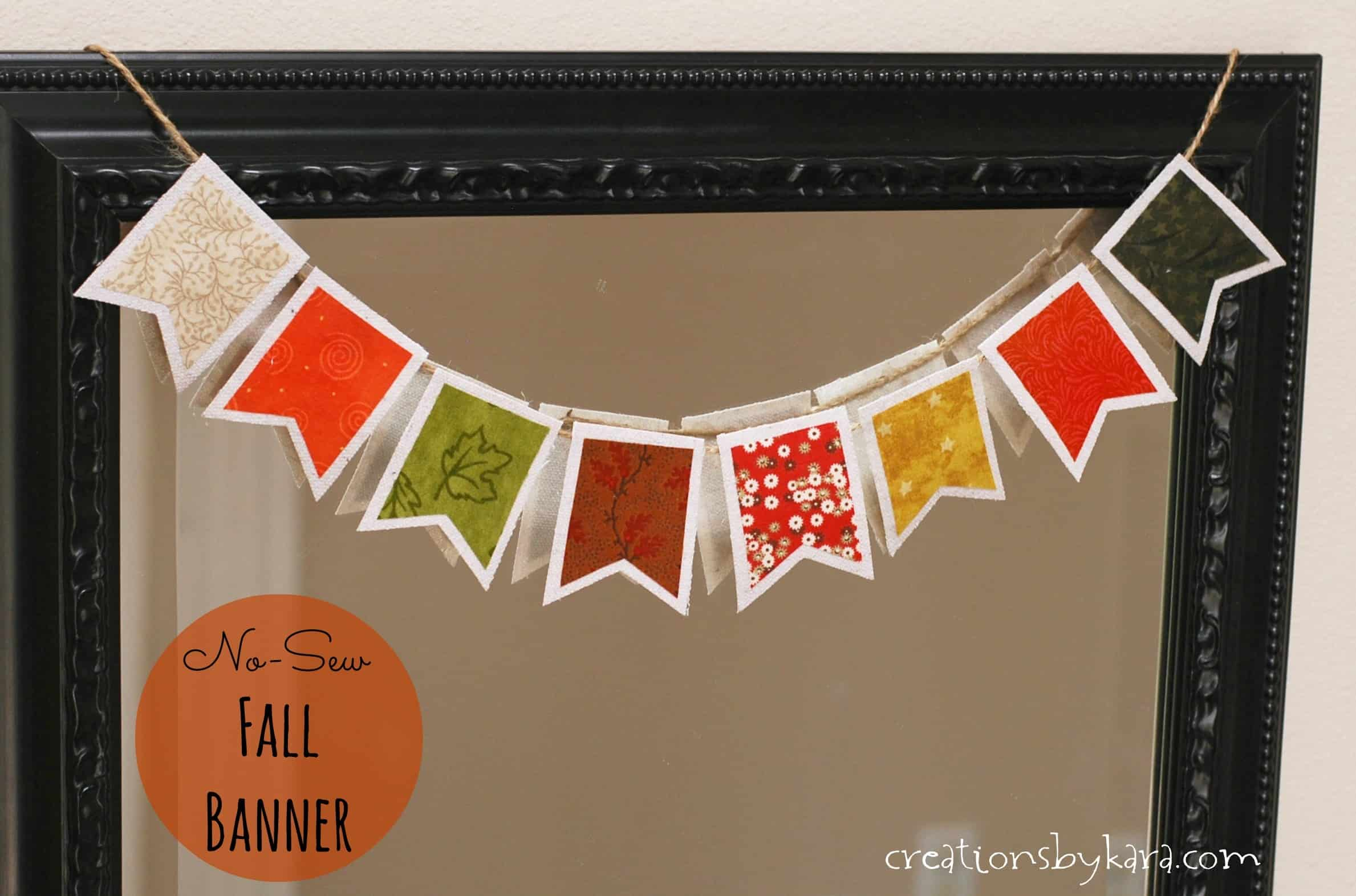 Foyer Entrance Yeast : Easy fall decor no sew fabric banner