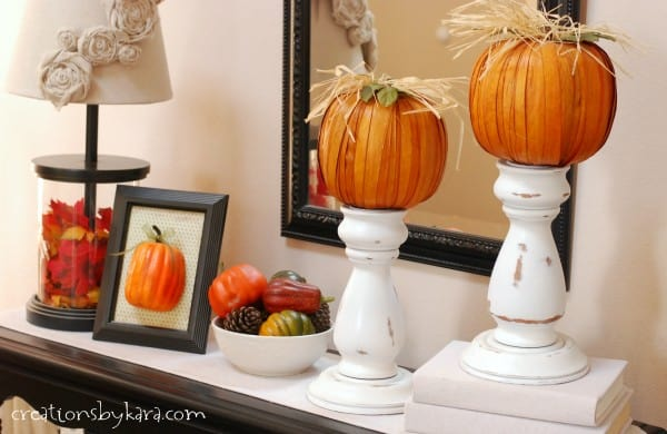 Fall Decorating Ideas: Entryway Table Decor