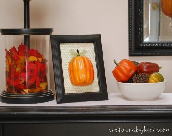 Fall Decorating Ideas: Entryway Table Decor