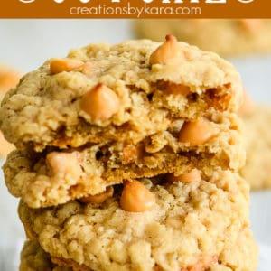 butterscotch oatmeal cookies pinterest pin