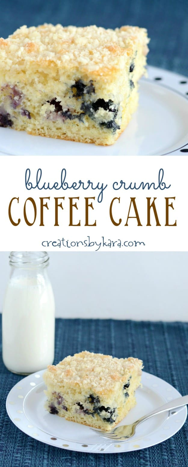 blueberry coffee cake collage
