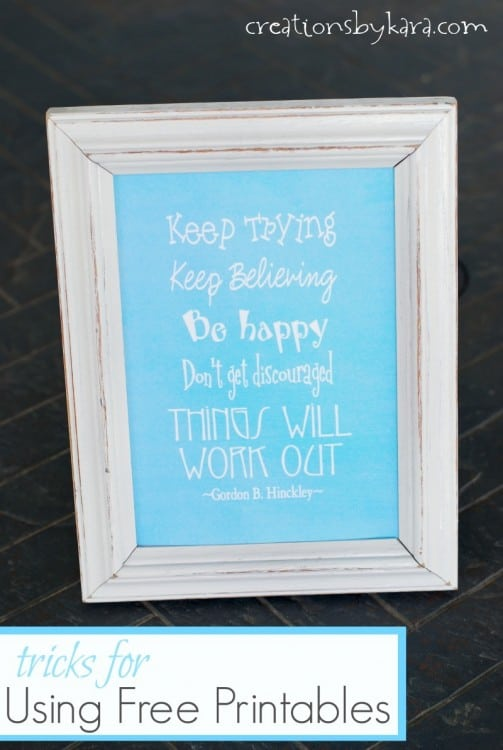tips and tricks using free printables in home decor