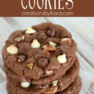 triple chocolate cookies pinterest collage