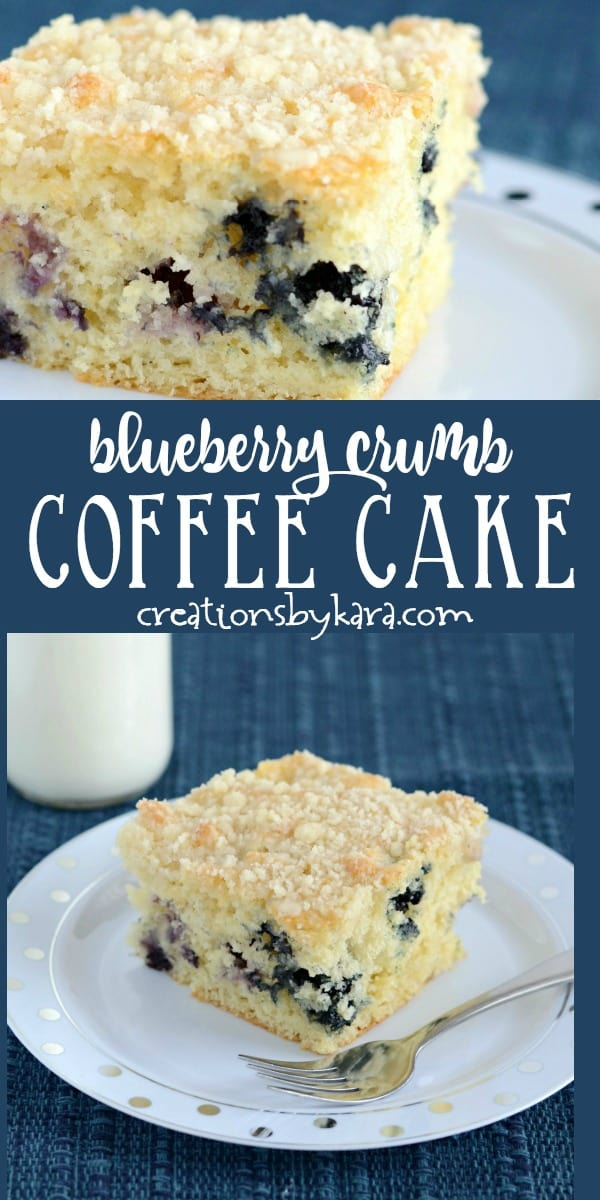 blueberry coffee cake recipe collage