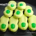 Monster Toes . . . these quick and easy treats are perfect for any Halloween gathering. They only require 4 ingredients!