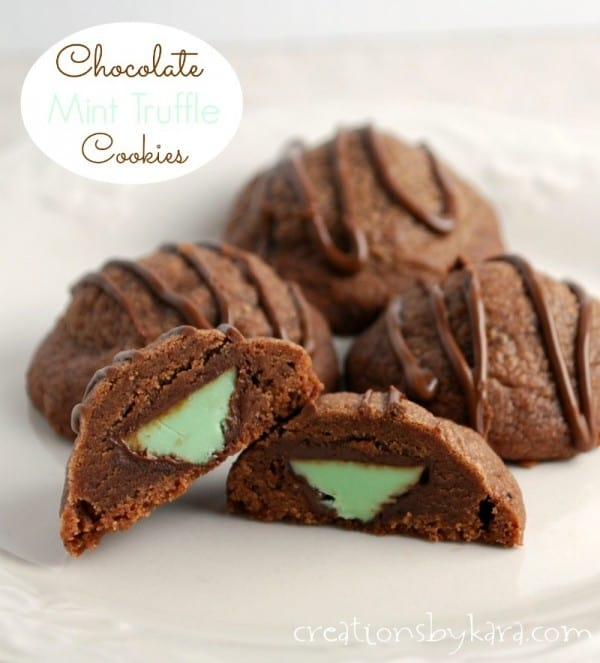 Christmas Cookies with Hersheys mint truffles