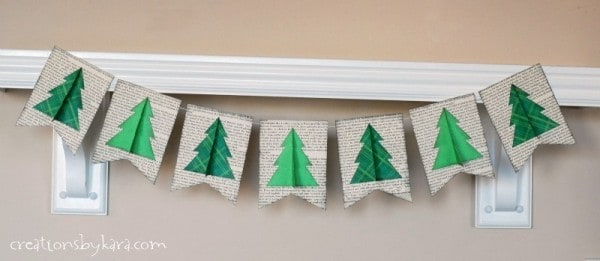 Easy Christmas Tree Book Page Banner