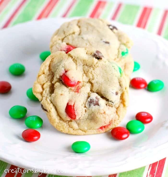 Christmas Cookies M M Chocolate Chip Cookies