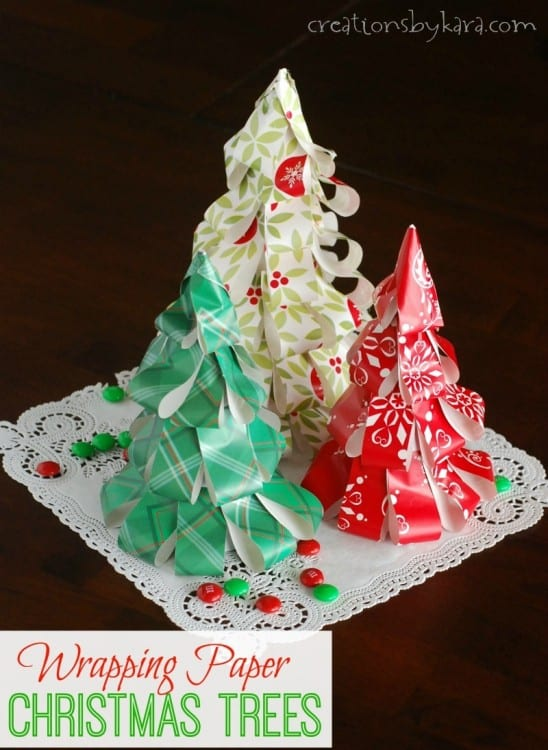 paper christmas trees - Easy Paper Christmas Decorations